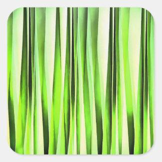 Eternal Evergreen Stripy Pattern Square Sticker