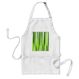 Eternal Evergreen Stripy Pattern Standard Apron