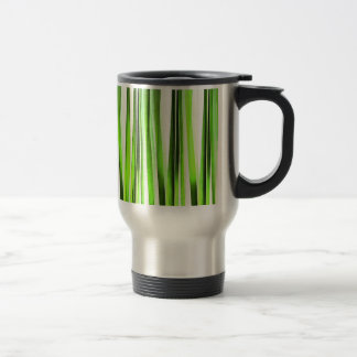 Eternal Evergreen Stripy Pattern Travel Mug