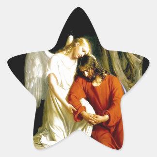 ETERNAL FAITH & LOVE JESUS STAR STICKER