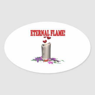 Eternal Flame Oval Stickers