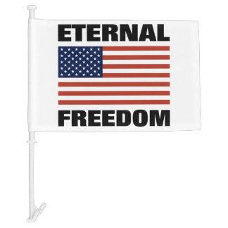 Eternal Freedom Car Flag