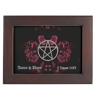 Eternal Handfasting Pentacle Pink Handfasting Cord Keepsake Box