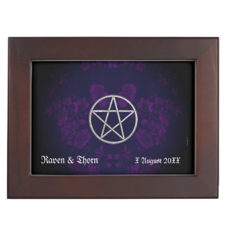 Eternal Handfasting Pentacle Purp Handfasting Cord Keepsake Box