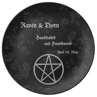 Eternal Handfasting/Wedding Pentacle Black Ste Plate