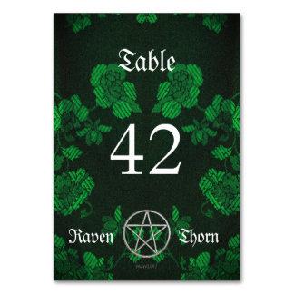 Eternal Handfasting/Wedding Pentacle Green Ste Card