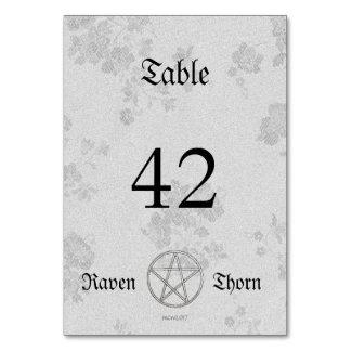 Eternal Handfasting/Wedding Pentacle White Suite Card