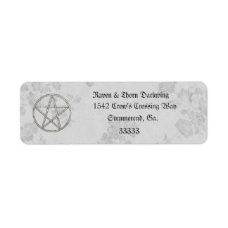 Eternal Handfasting/Wedding Pentacle White Suite Return Address Label