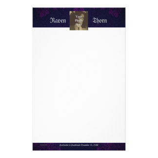 Eternal Handfasting/Wedding Suite Gothic Purple Personalised Stationery