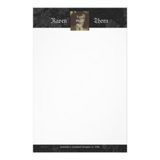 Eternal Handfasting/Wedding Suite Midnight Black Stationery Paper