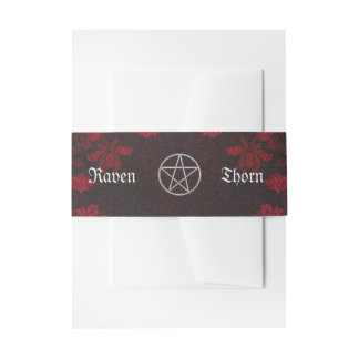 Eternal Handfasting/Wedding Suite Pentacle Invitation Belly Band