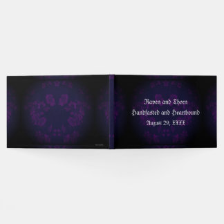 Eternal Handfasting/Wedding Suite Purple Guest Book