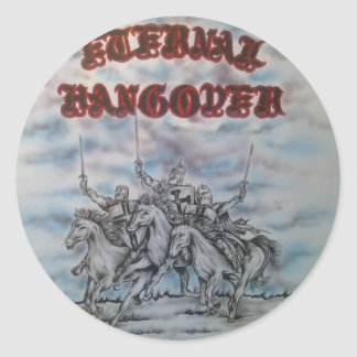 Eternal Hangover Classic Round Sticker