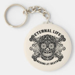 Eternal Life Begins at Death Basic Round Button Key Ring