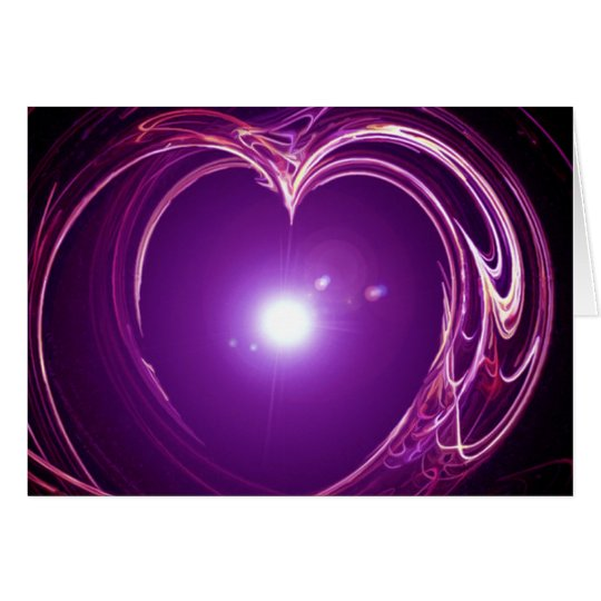 Eternal Love 'Fractal Heart' Digital Art Design Card