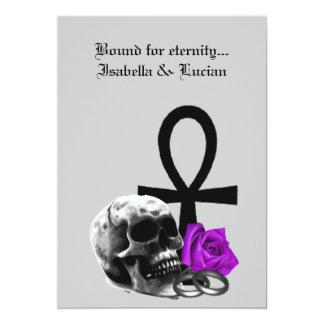 "Eternal Love Gothic Vampire Wedding 5"" X 7"" Invitation Card"