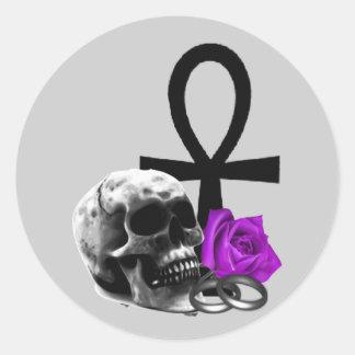 Eternal Love Gothic Vampire Wedding Round Sticker