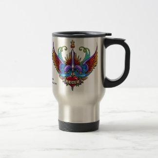 Eternal Love Rainbow Swallow Tattoo Travel Mug