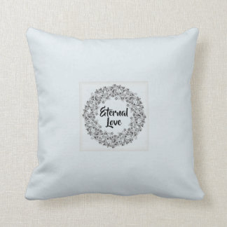Eternal love romantic pillow with lace frame