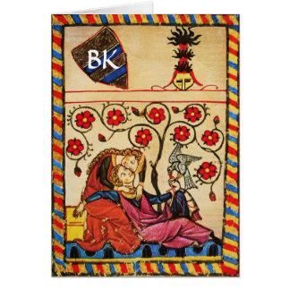 ETERNAL LOVE VALENTINE'S DAY PARCHMENT MONOGRAM GREETING CARD