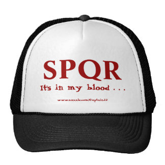 Eternal Rome . . . it's in my blood! Cap