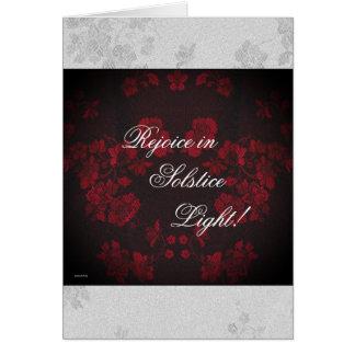 Eternal Winter Solstice Yule Christmas Greeting Card