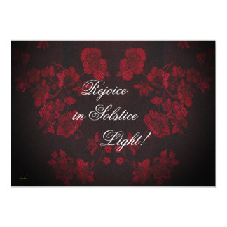 Eternal Winter Solstice Yule Christmas 13 Cm X 18 Cm Invitation Card
