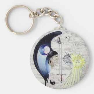 Eternal Zen Swordsman Yin & Yang Keychain