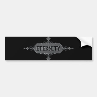 Eternity concept. bumper sticker