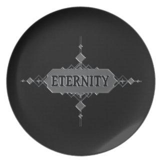 Eternity concept. plate