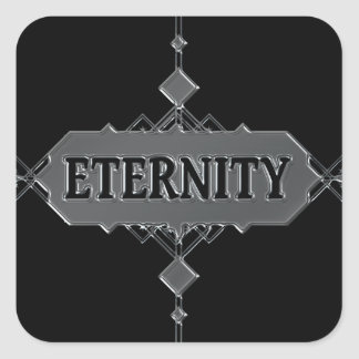 Eternity concept. square sticker