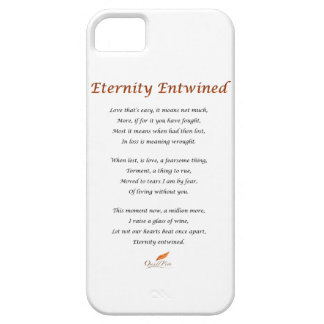 Eternity Entwined Poem iPhone 5 Cover