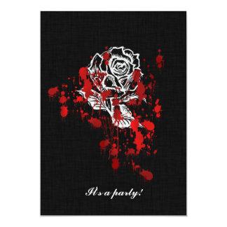 Eternity Rose Vampire Goth Wedding 13 Cm X 18 Cm Invitation Card