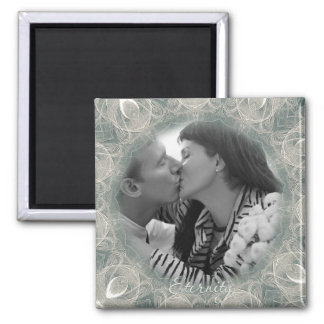 Eternity Swan Wedding Square Magnet