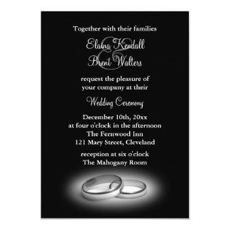 Eternity Wedding Invitation black