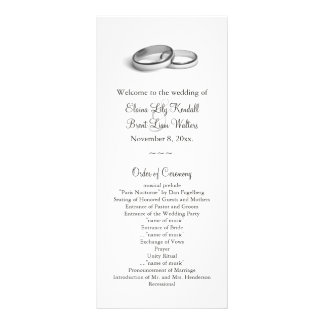 Eternity Wedding Program 2 Customised Rack Card