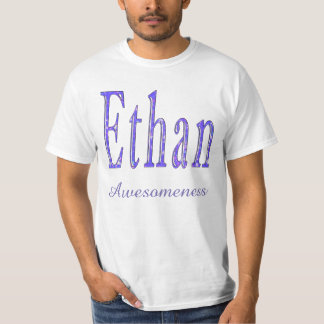 Ethan, Awesomeness Name, Logo, Mens White T-shirt