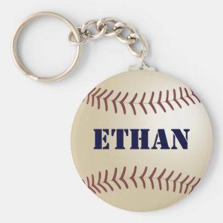 Ethan Baseball Keychain by 369MyName