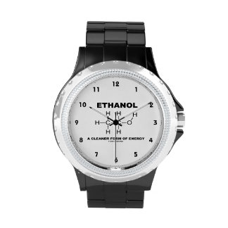 Ethanol A Cleaner Form Of Energy (Molecule) Wrist Watch