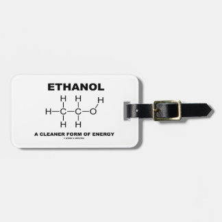 Ethanol A Cleaner Form Of Energy Molecule Tags For Bags