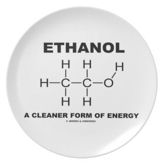 Ethanol A Cleaner Form Of Energy Molecule Party Plates