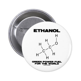 Ethanol Green Power Fuel For The World (Chemistry) 6 Cm Round Badge