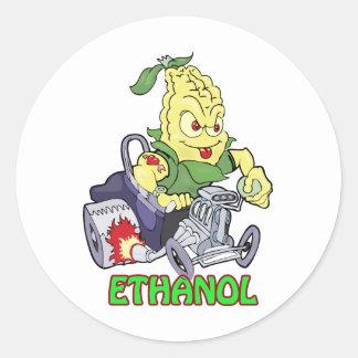 Ethanol Hot Rod Round Sticker