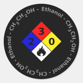 Ethanol MSDS Sticker