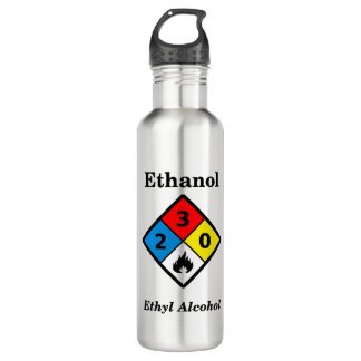 Ethanol MSDS Warning 710 Ml Water Bottle