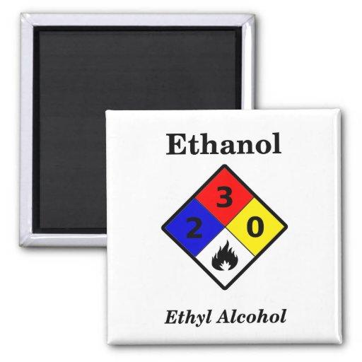 Ethanol MSDS Warning Symbol Magnet
