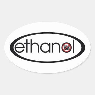 Ethanol - No War Oval Sticker
