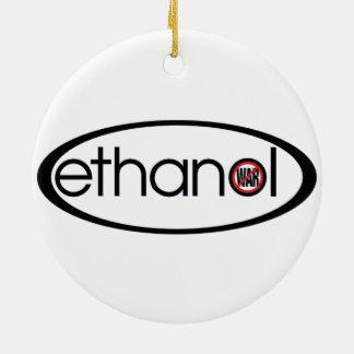 Ethanol - No War Round Ceramic Decoration