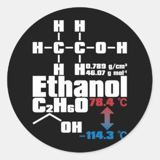 Ethanol Round Stickers