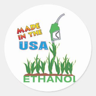 Ethanol - USA Round Sticker